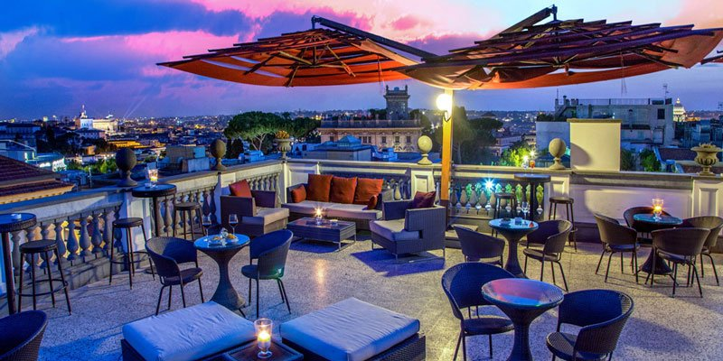 Aperitif Dinner Rooftop Events Party In Rome