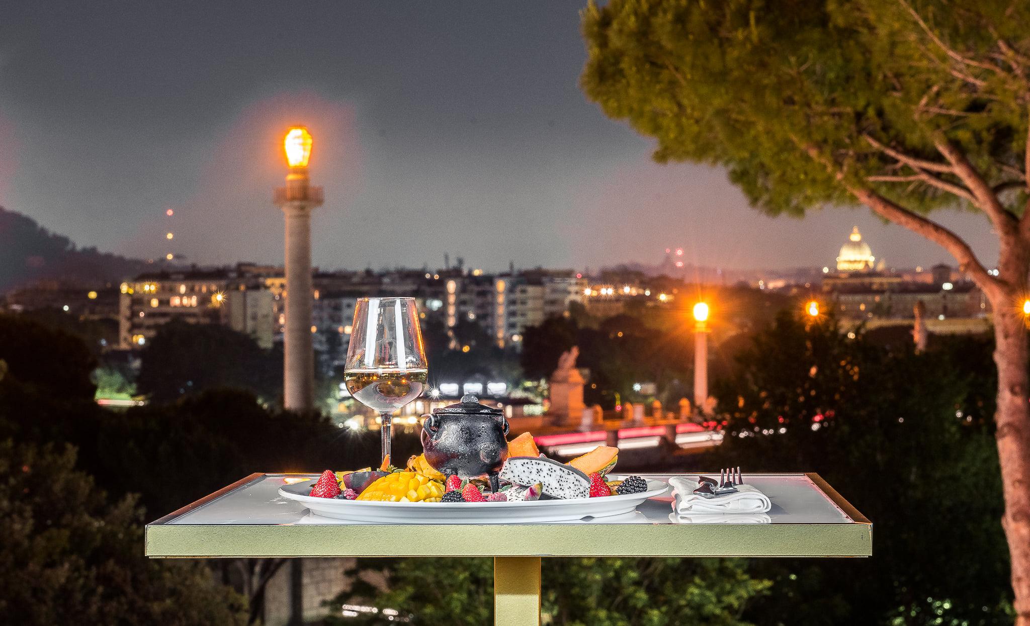 cena aperitivo la villa roma nord sabato